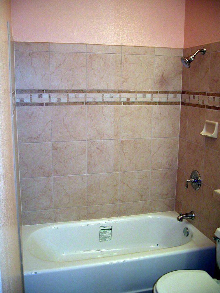 12 X 12 Porcelain Tile With Border Bathroom Ideas