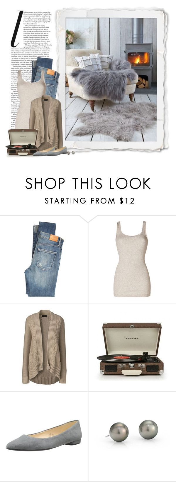 """""""A Cozy Night At Home"""" by ameve ❤ liked on Polyvore featuring Citizens of Humanity, Vince, Lands' End, Nine West, Blue Nile, Winter, cozy and Winter2016"""