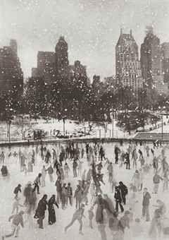 Edward Pfizenmaier, Wollman Rink, Central Park, New York, 1954,