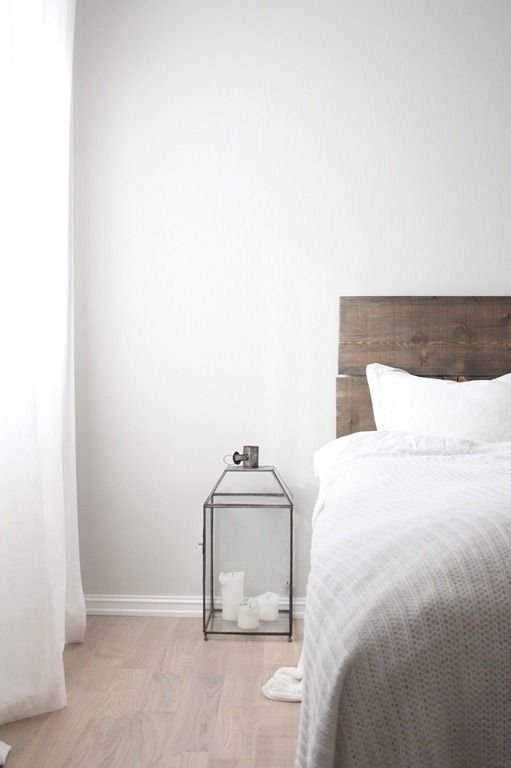 Light Grey Walls Light Wooden Floor White Curtains Grey