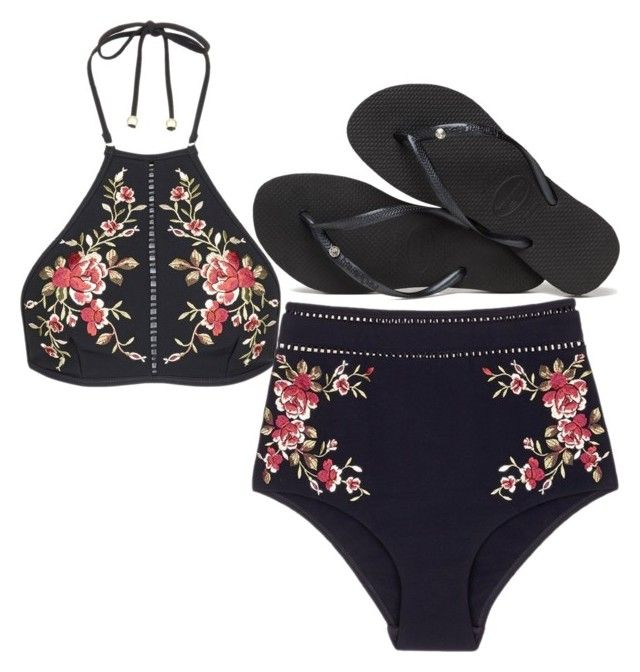 """Beach"" by purplepancakeaarecool on Polyvore featuring Zimmermann and Havaianas"