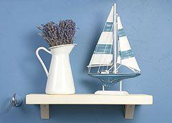 Badezimmer deko blau  Badezimmer in blau mit maritimer Deko | Beach house | Pinterest ...
