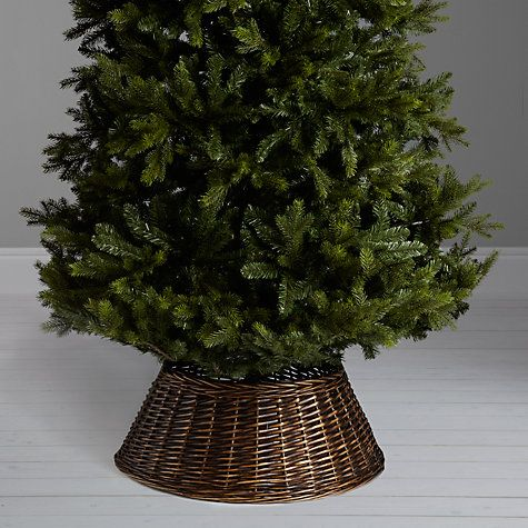 Chocolate XL Wicker Tree Skirt From John Lewis
