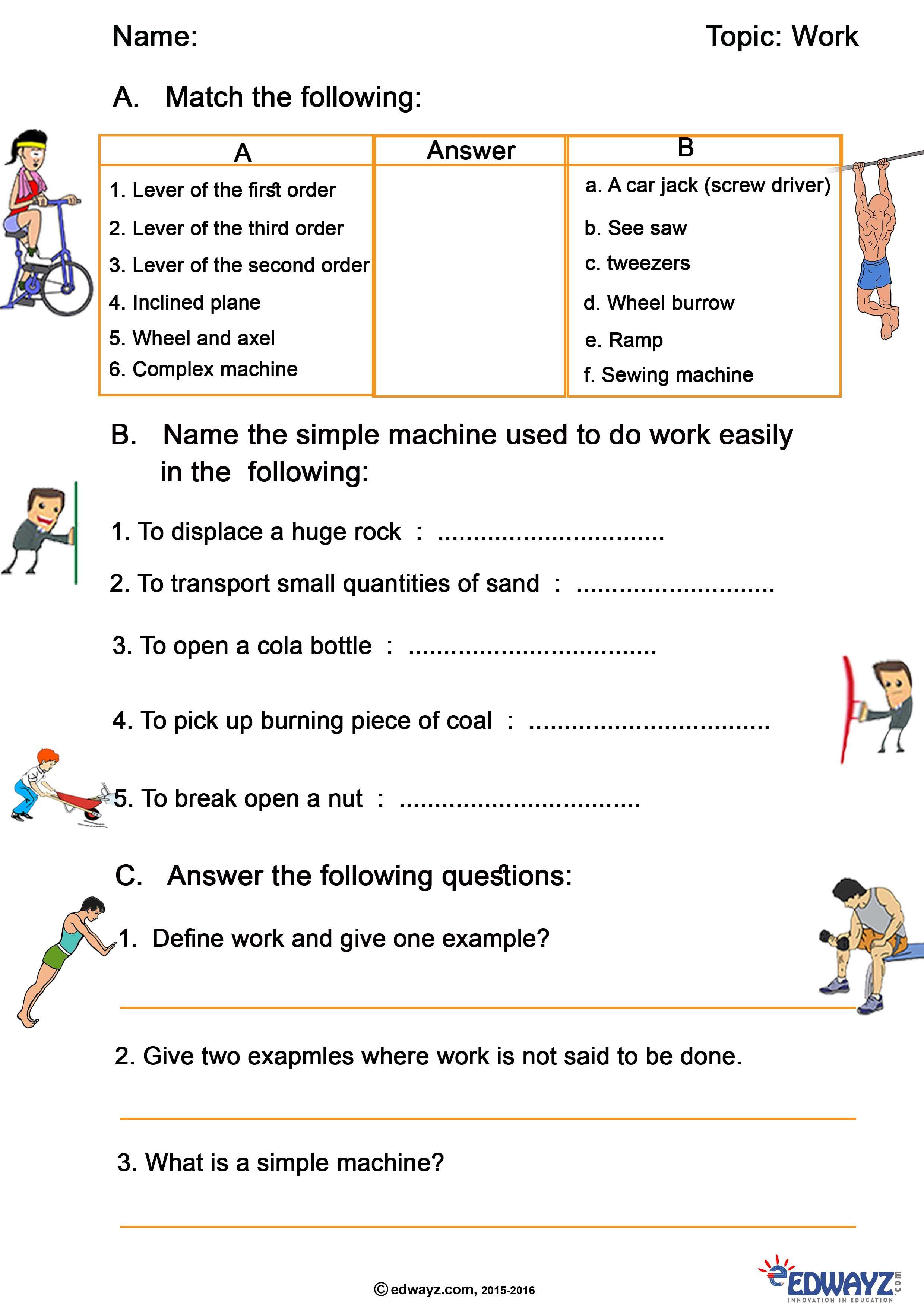 Edwayz Force Amp Work Class4 Evs Freeworksheets