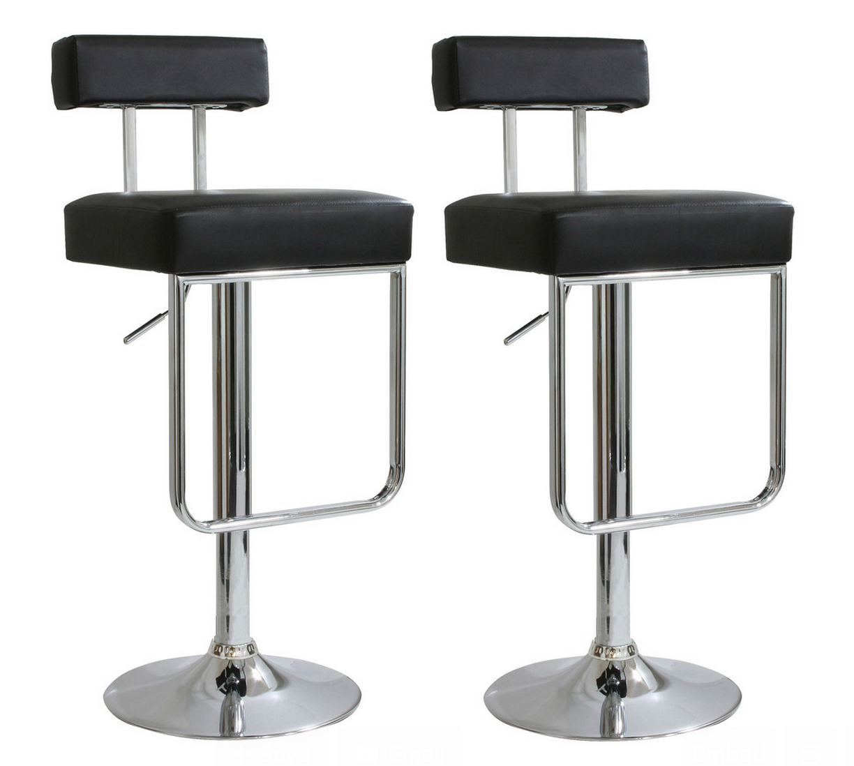 Kitchen island - AmeriHome 2 Piece Contemporary Padded Bar Stool Set - Beyond Stores