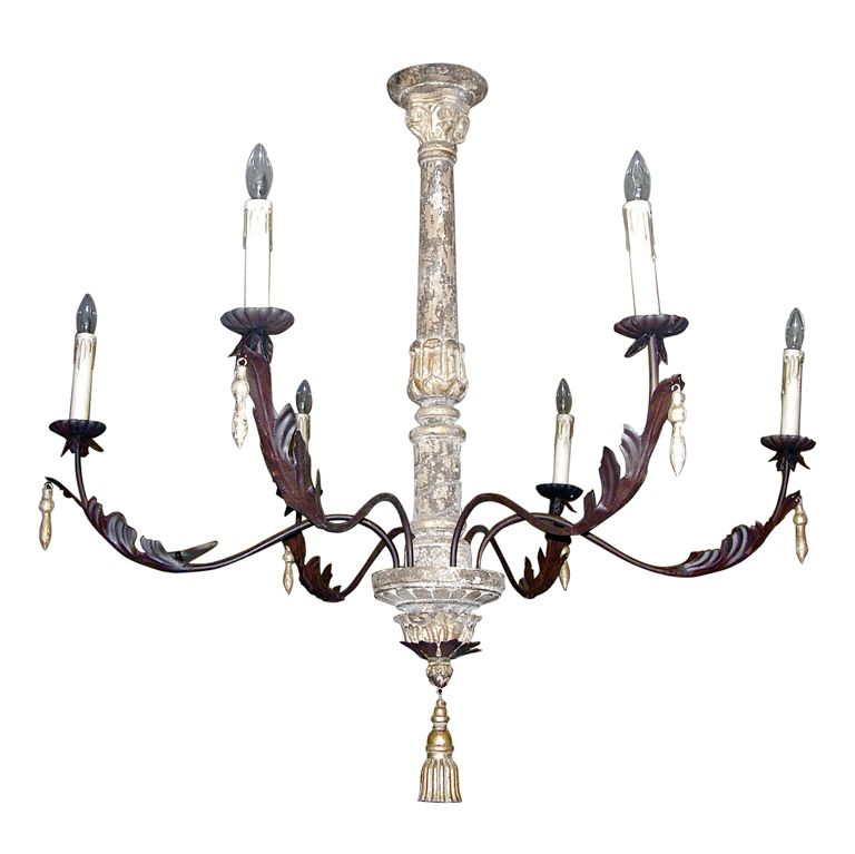 pair of monumental italian style six arm chandeliers chandeliers