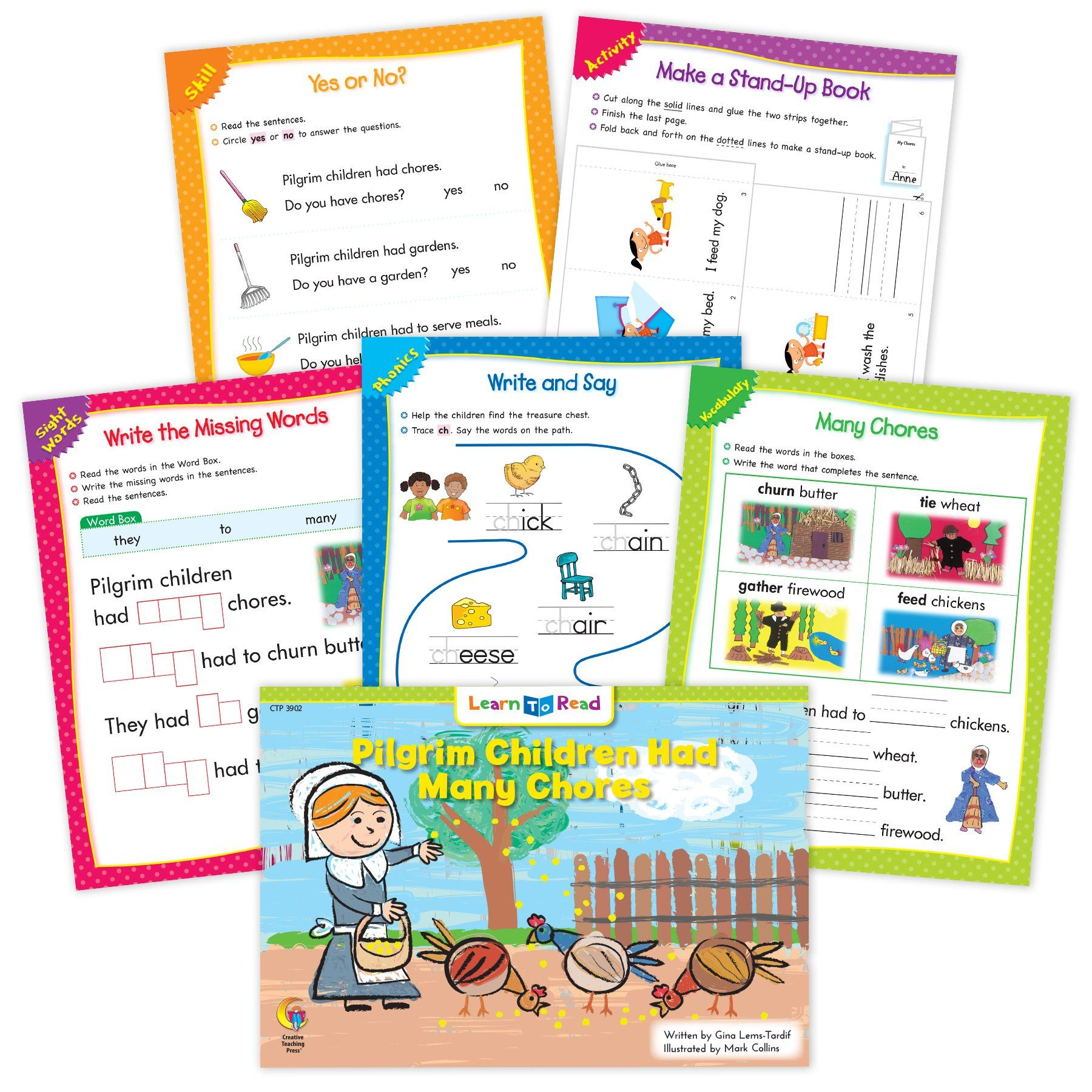 Pilgrim Children Had Many Chores Ebook Amp Worksheets In