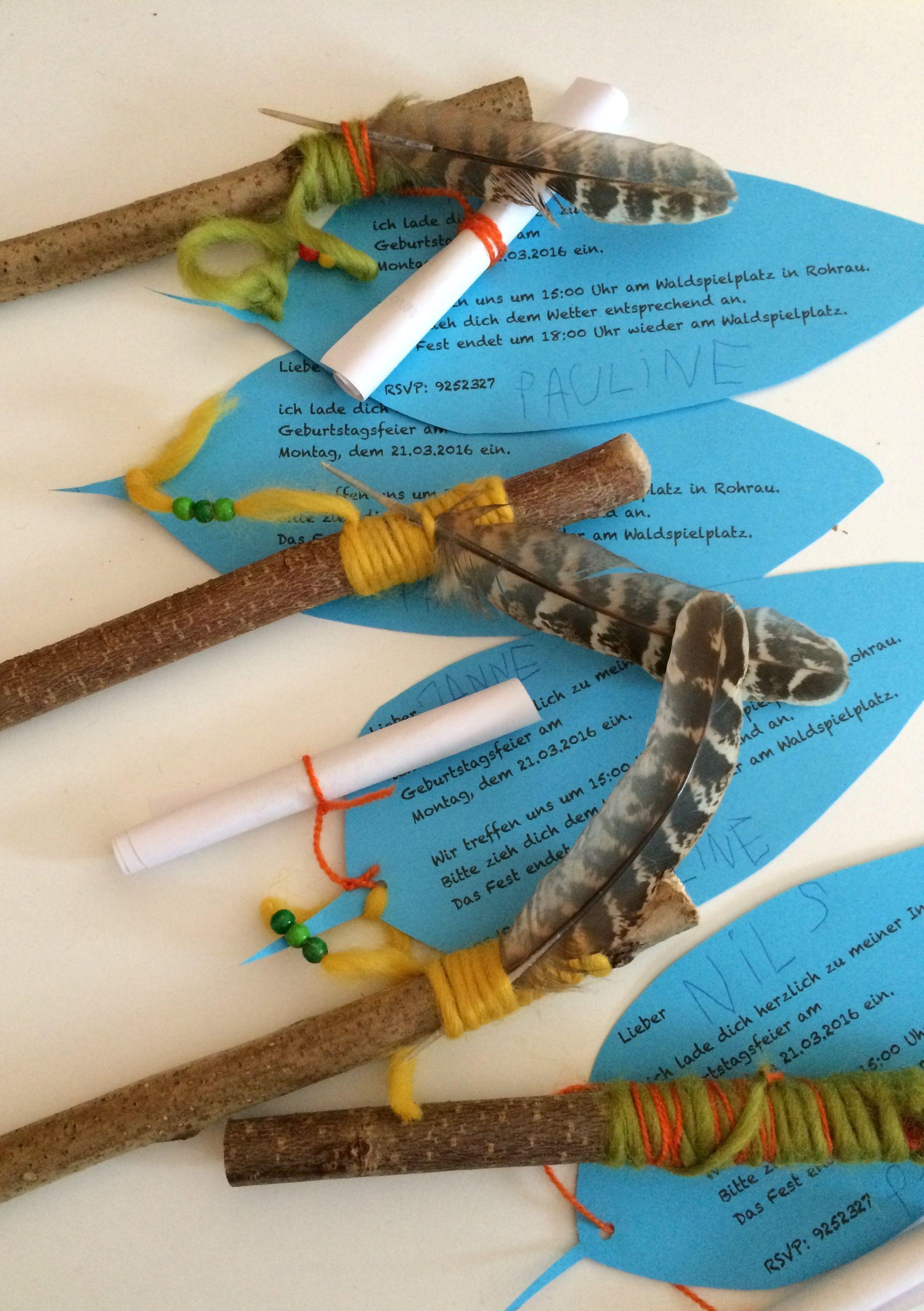 pin von bettina spiller auf indianergeburtstag | pinterest, Einladung