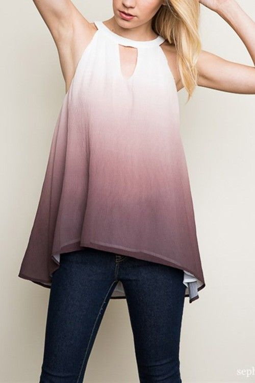 H-Ombre Layered Tank Top.  ( by A Beauty by BNB )