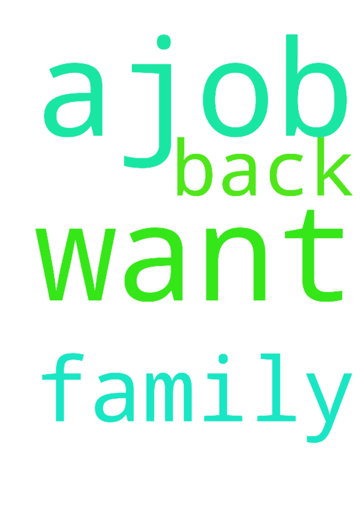 I Want My Family Back And Ajob I Want My Family Back And Ajob