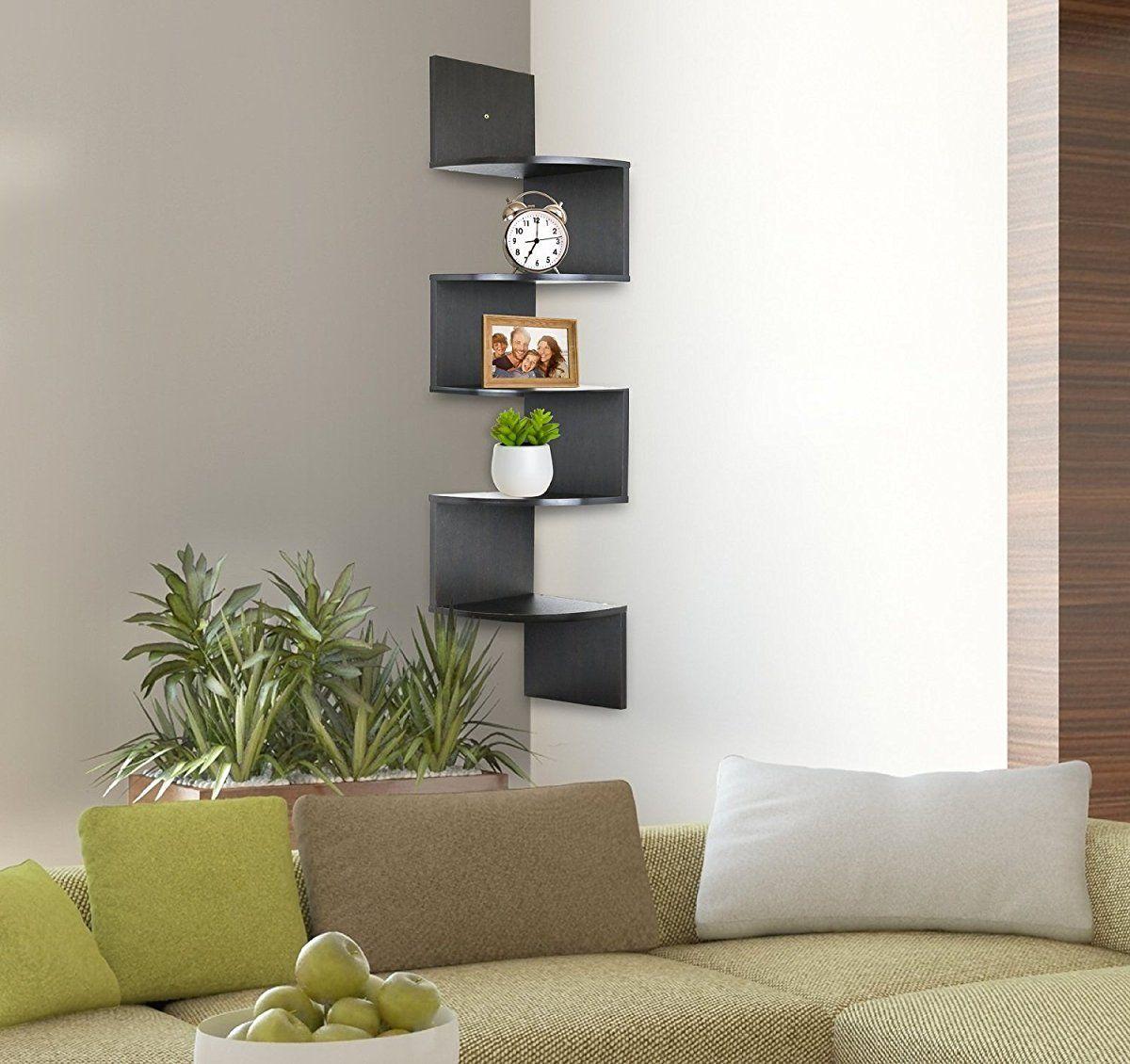 tier wall mount corner shelves bookshelf makeover pinterest