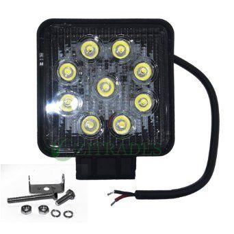 """Amazon.com: Zitrades 2 Pack 4 """"pulgada cuadrada 27watt LED IP67 impermeable Work Lamp Light Off Road del poder más elevado ATV Jeep 4x4 Camión Tractor (30 grados), Spot Light Por zitrades: Automotive"""