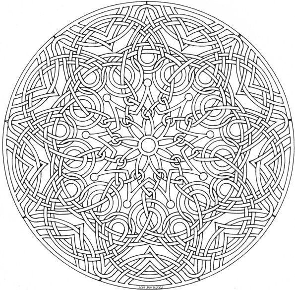 Detailed Coloring Pages For Adults | This is a beautiful geometric ...