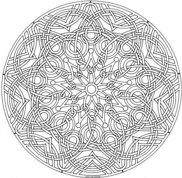 dibujos para colorear mandalas dificiles  Diseños ...