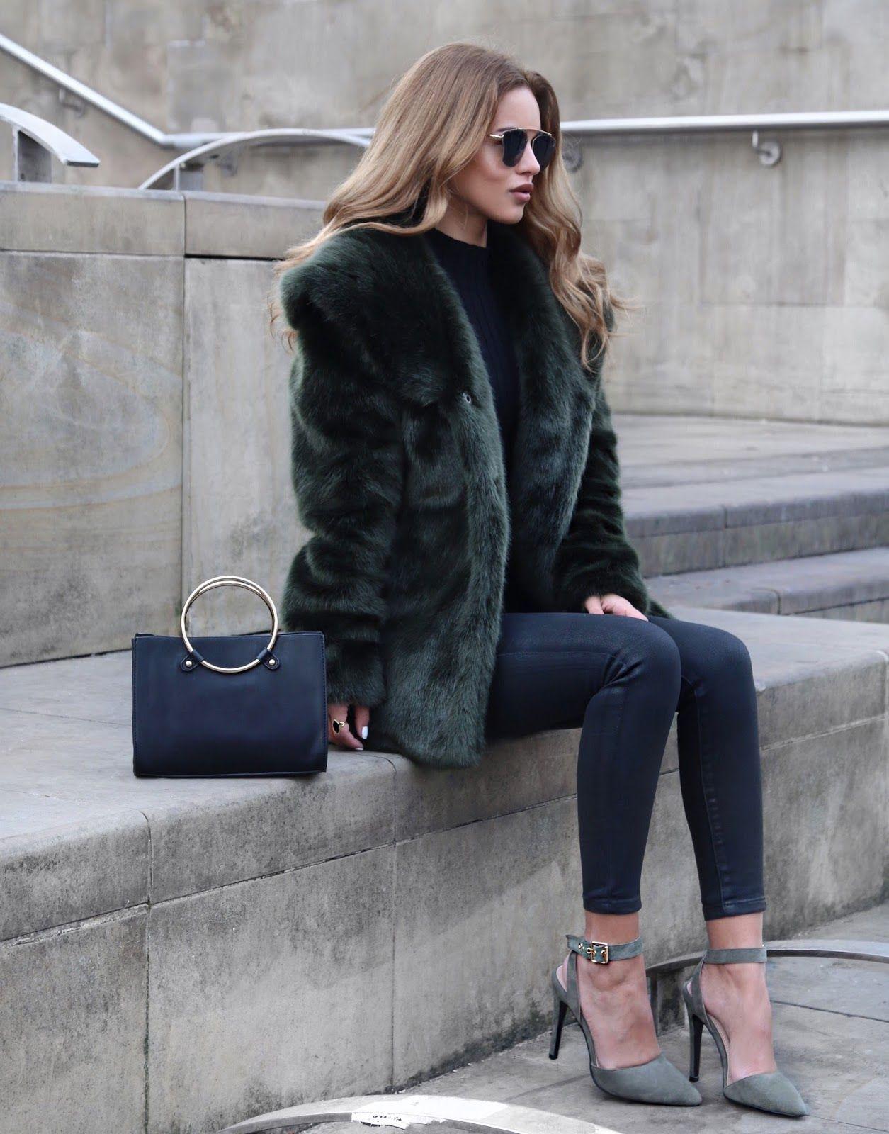 Anita and green black coat