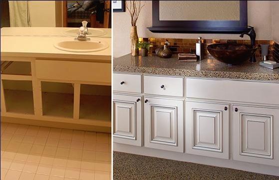 34+ Bathroom cabinet refacing ideas type