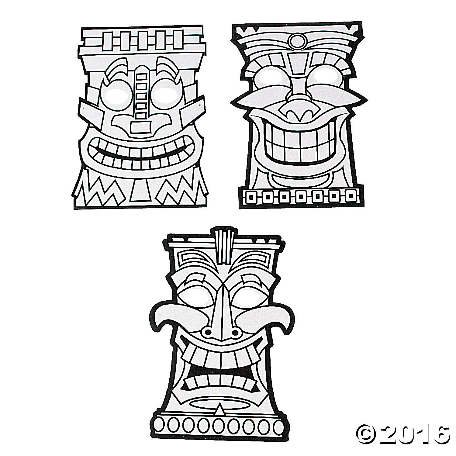 Tiki Mask Coloring Pages
