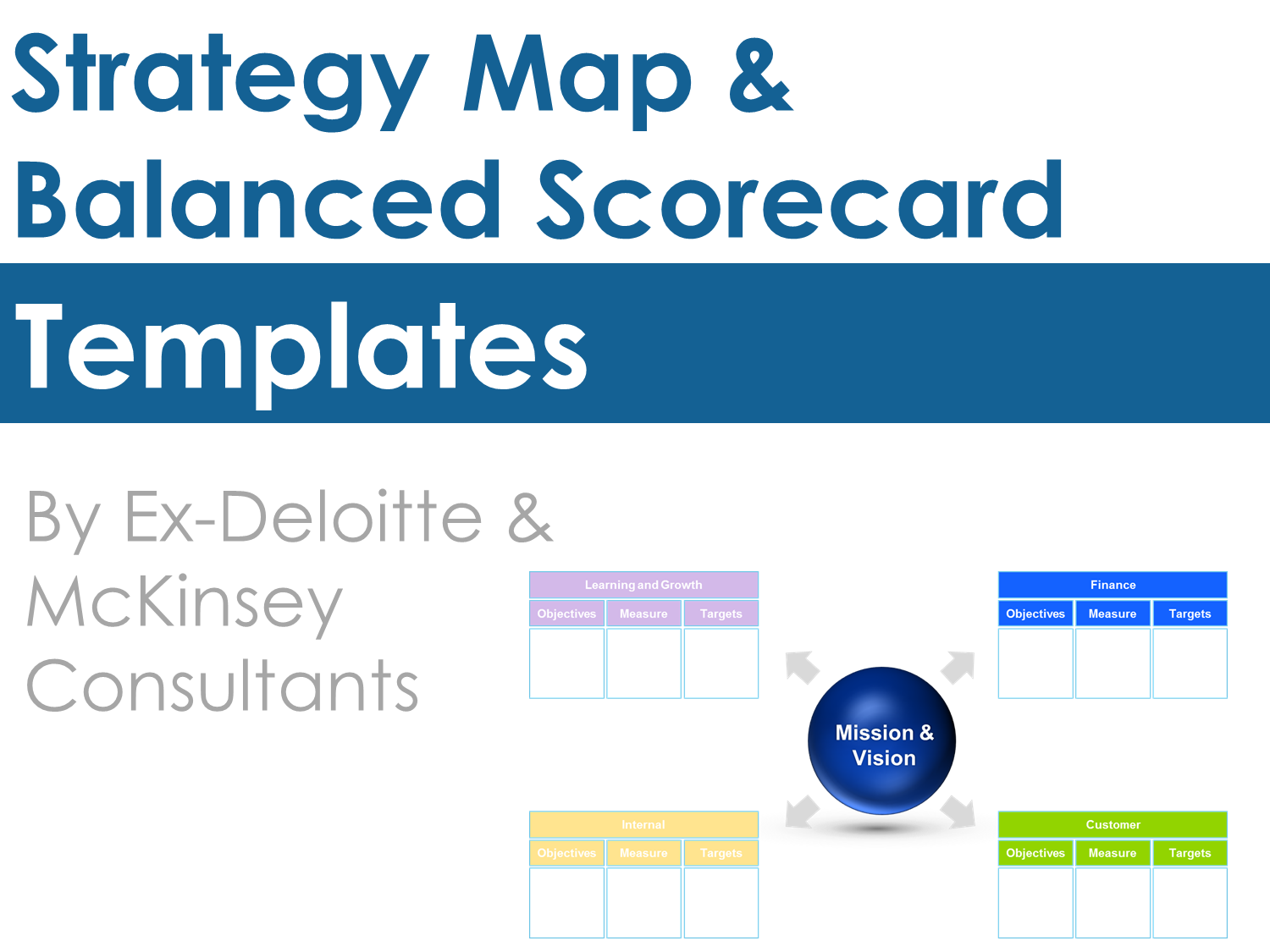 Strategy Map  Balanced Scorecard  Template Reuse And Students