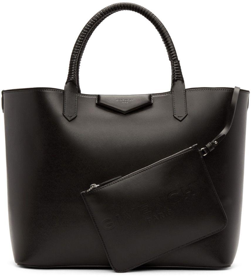 Givenchy - Black Large Antigona Shopping Tote   Purse please ... 6c25c6bddf