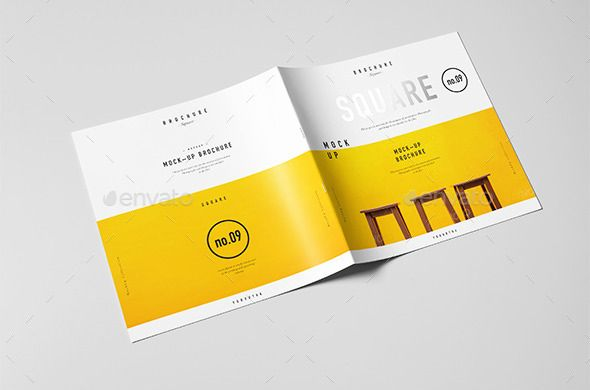Square Brochure  Catalog  Booklet MockUp On Behance  Design