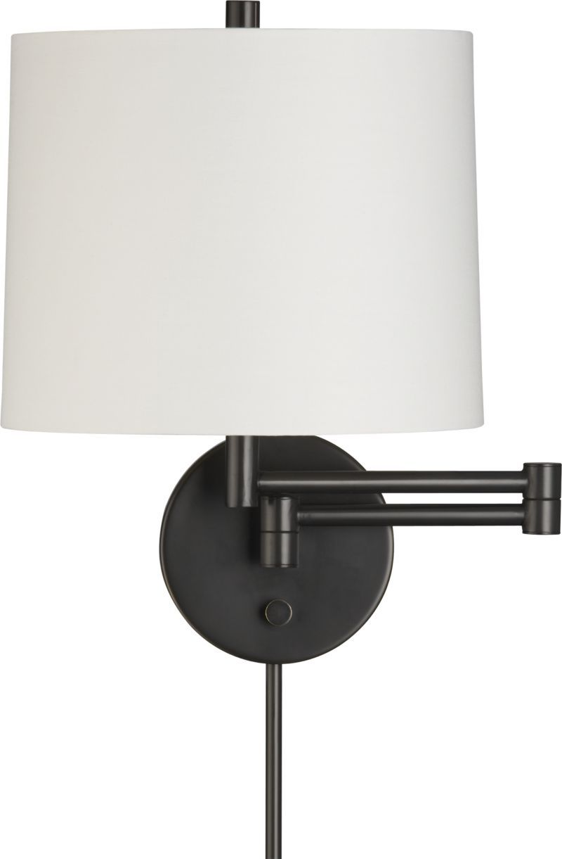 Metro Ii Bronze Wall Sconce In Sconces Crate And Barrel