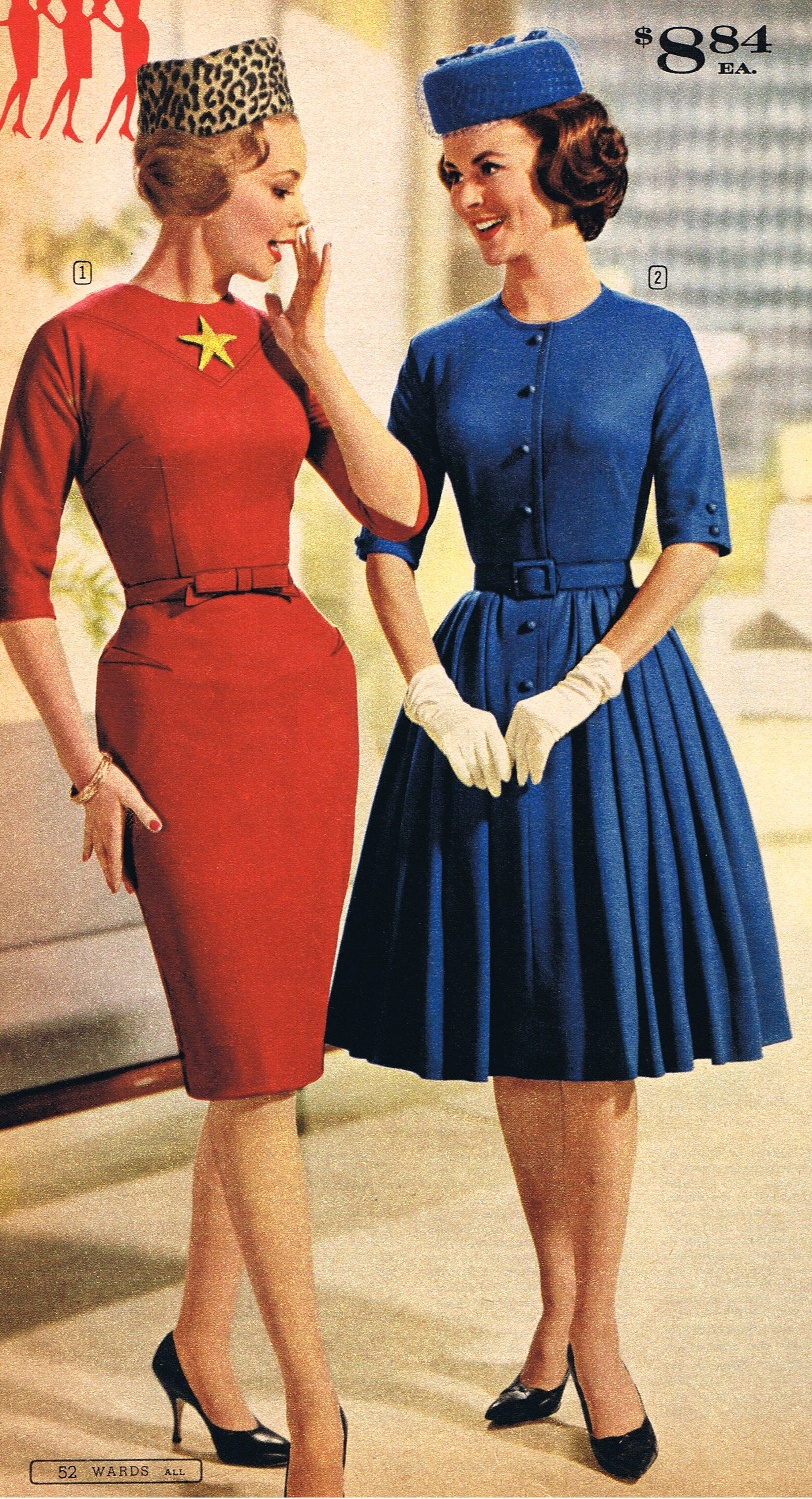 Pin By Amber Middaugh On Mid Mod Mail Order Fashion 1960s Fashion Women Vintage Dresses Fashion [ 3035 x 1645 Pixel ]