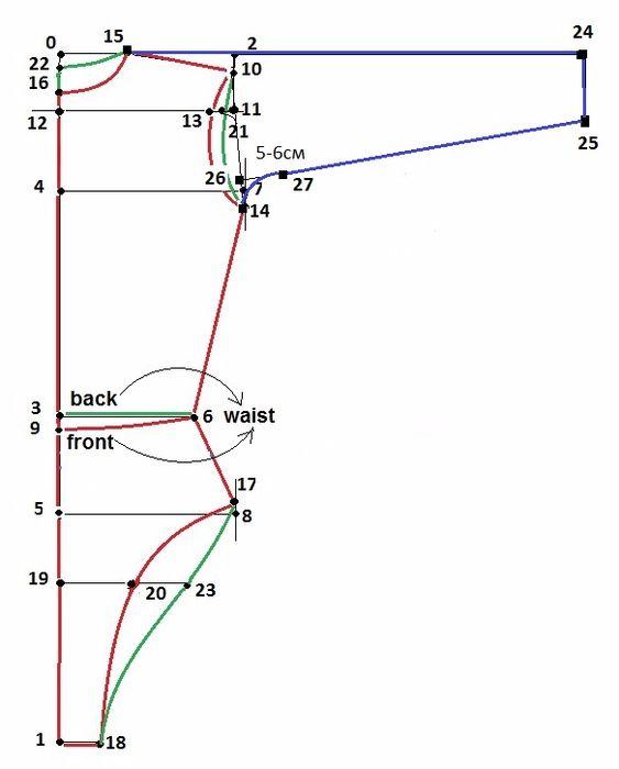 pattern fjr seamlees sleever (563x700, 123Kb) | leotardos ...