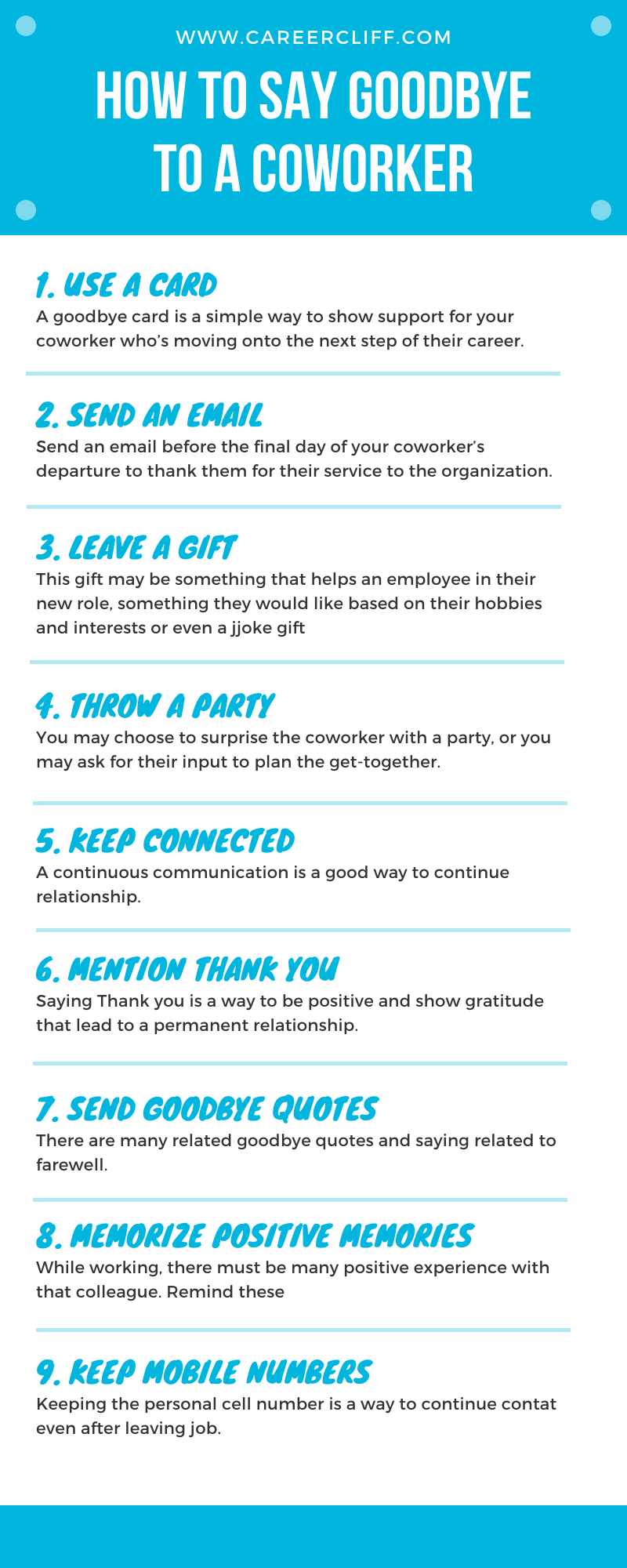 How to Say Goodbye to a Coworker