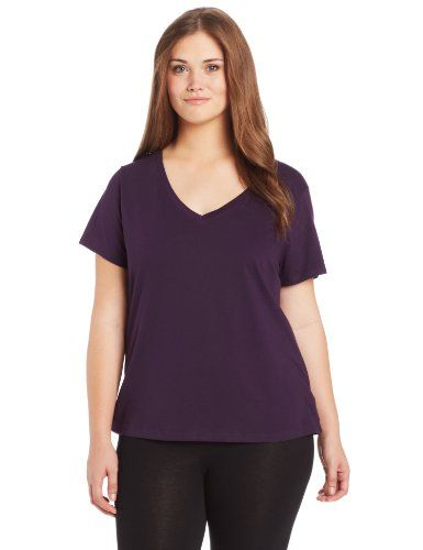 d2ca166b Jockey Womens PlusSize VNeck Sleep Tee Eggplant 3X * Click on the image for  additional details.Note:It is affiliate link to Amazon.