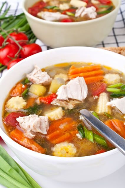 If you want to make a light, refreshing chicken soup recipe instead