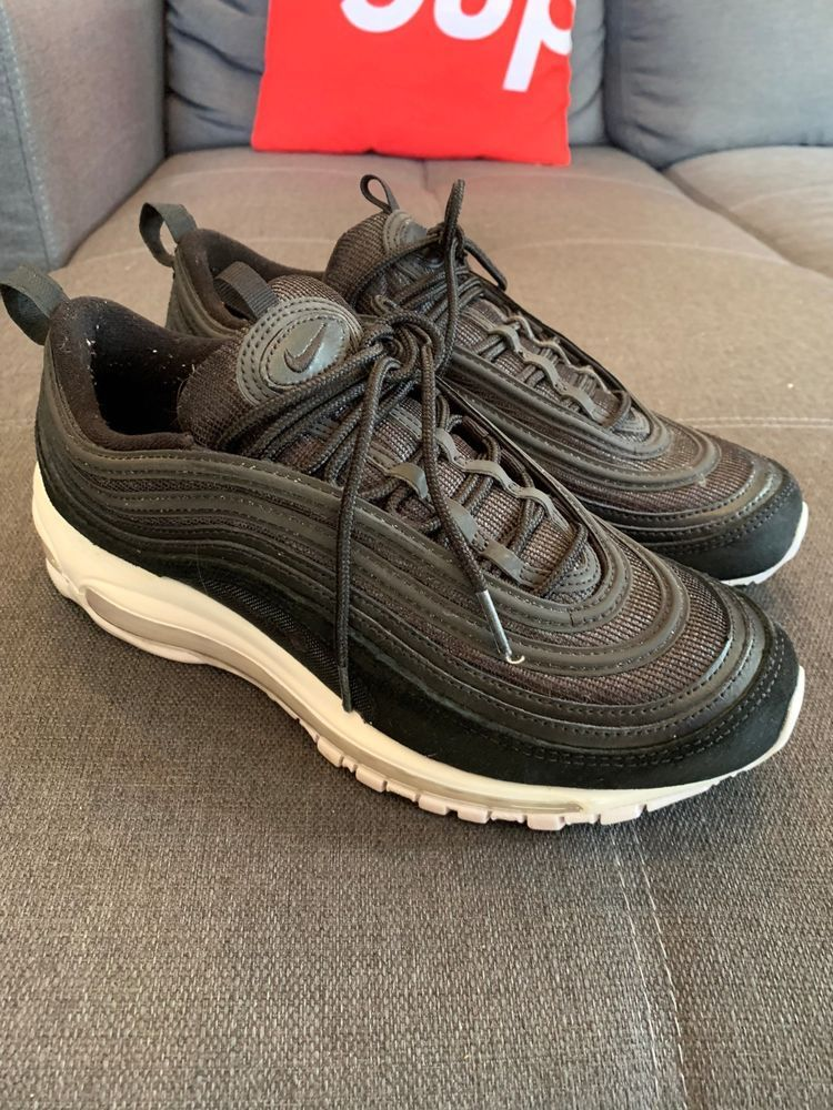 77a566d268fe Mens Nike Air Max 97 Premium Suede Leather Black White 921826-003 Size 9   fashion  clothing  shoes  accessories  mensshoes  athleticshoes (ebay link)