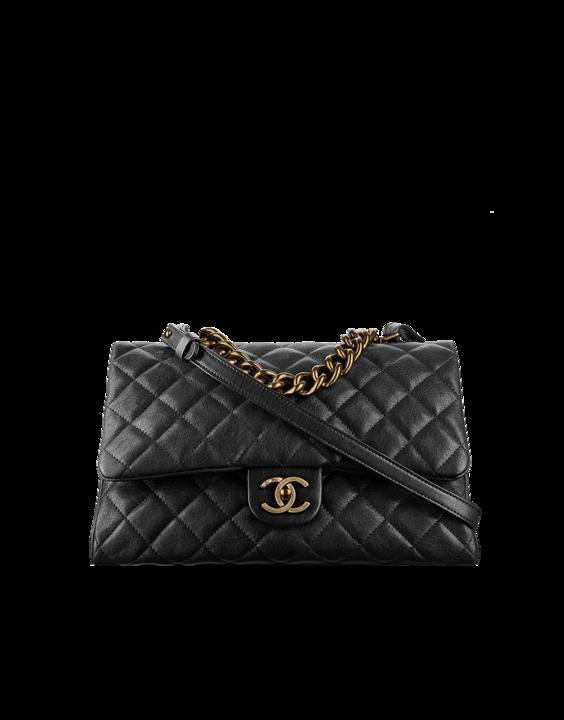 1c96e6430d36 Flap bag with top handle, sheepskin & gold metal-black - CHANEL ...