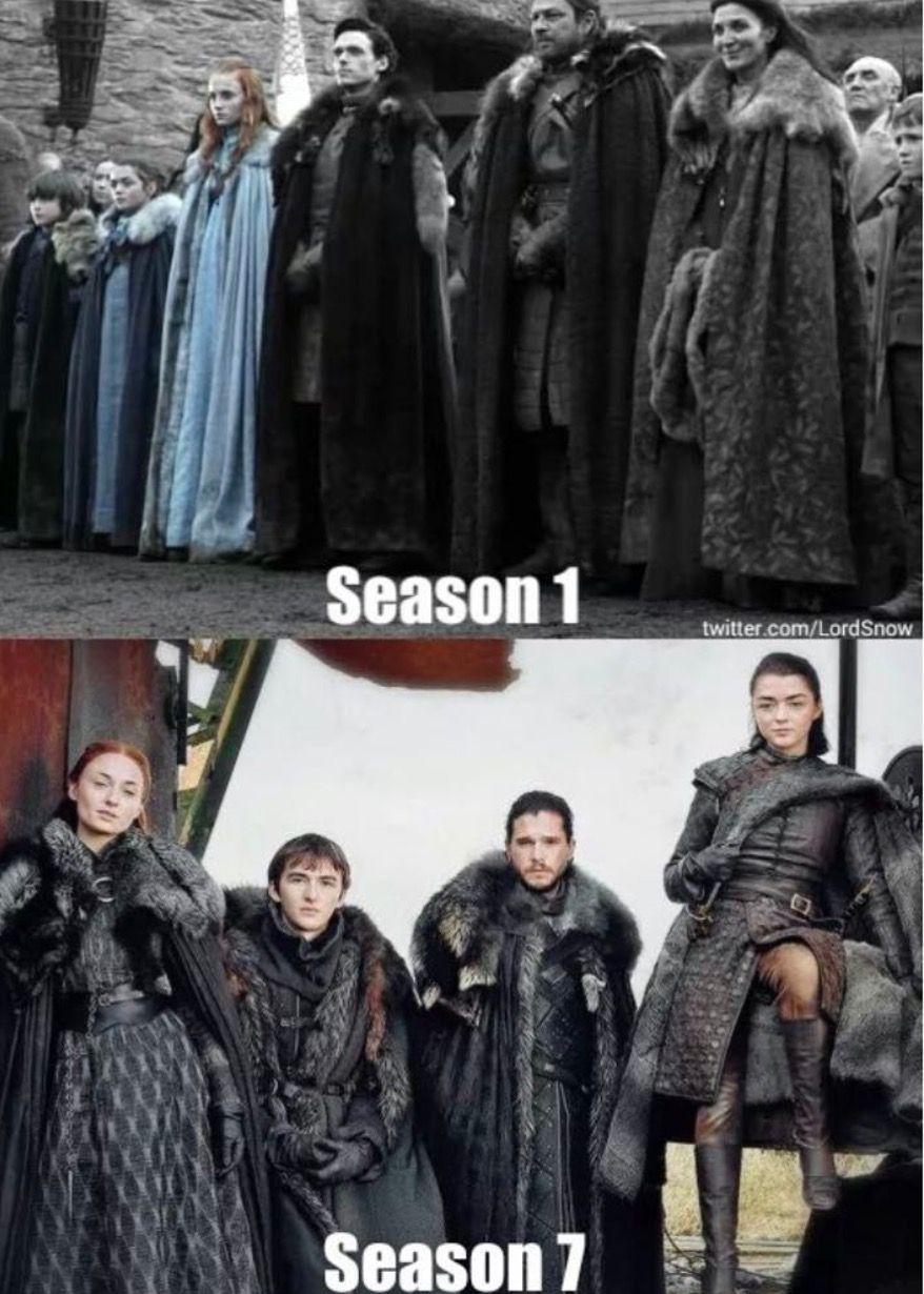 Bittersweet Stark family Game of thrones cast, Game of