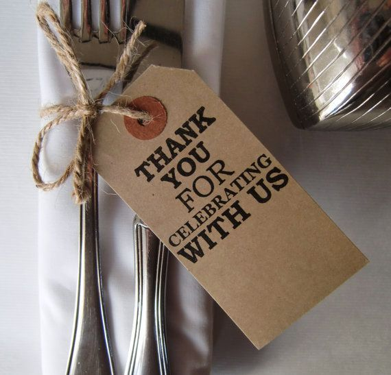 Wedding Table Decor-Rustic Wedding Place Cards-Thank You