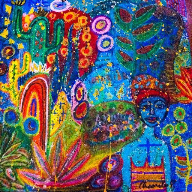 A dama do jardim (80x80)