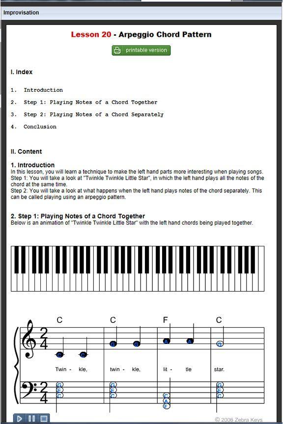 50 Piano Lesson 20 Arpeggio Chord Pattern Beginner