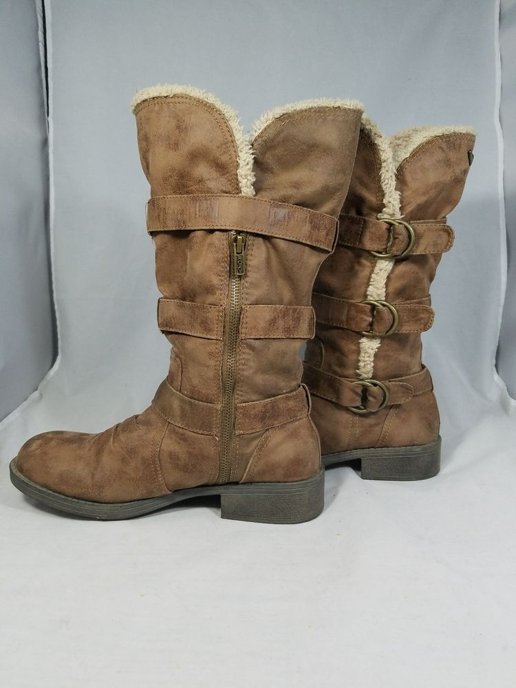 688f488ed42e roxy fargo boots size 9 womens 3 buckle with zipper side  ROXY  MidCalfBoots