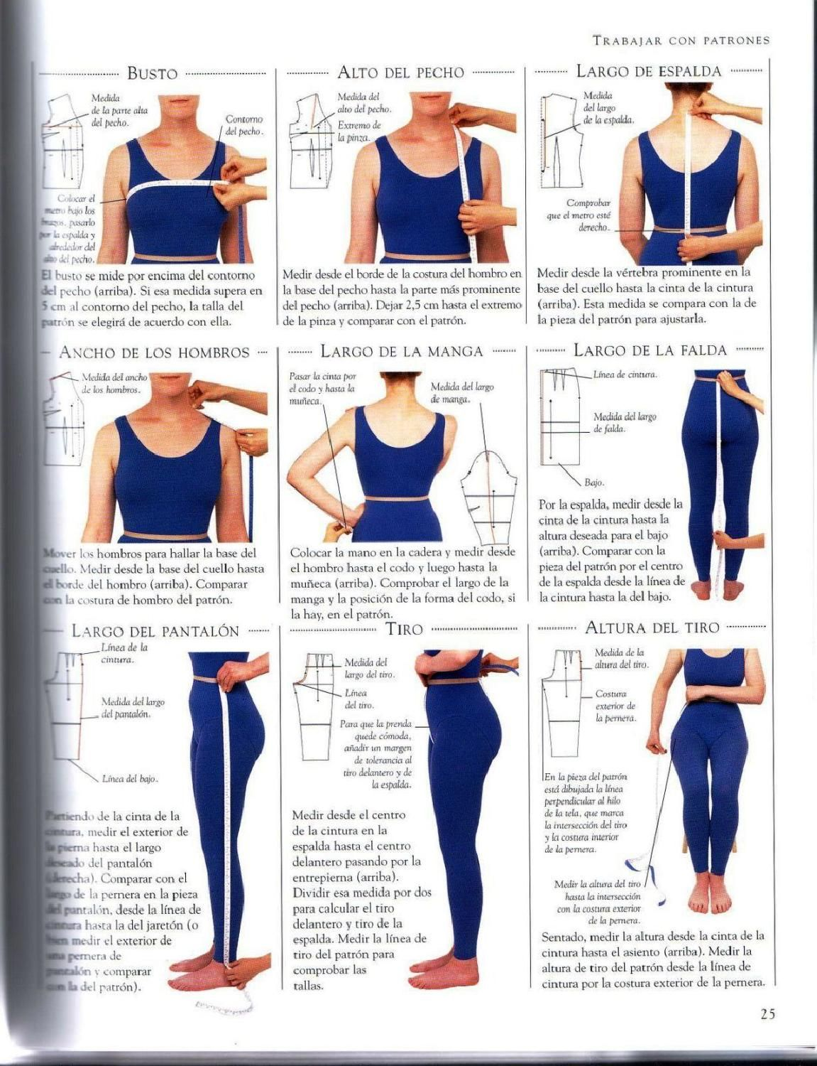 Manual Completo De Costura Sewing Measurements Girls Dress Sewing Patterns Sewing Pattern Design