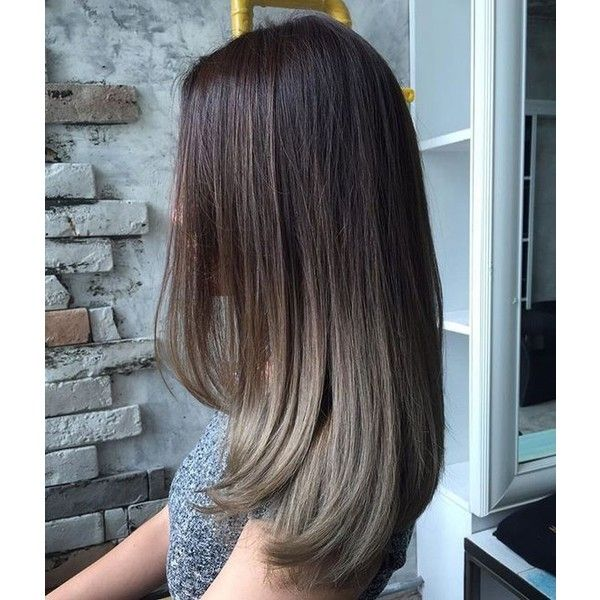 45 Chocolate Beige Grey Ombre Hair Color Pinterest Liked On Polyvore Featuring Bea Haircuts Straight Hair Medium Hair Styles Straight Hairstyles Medium