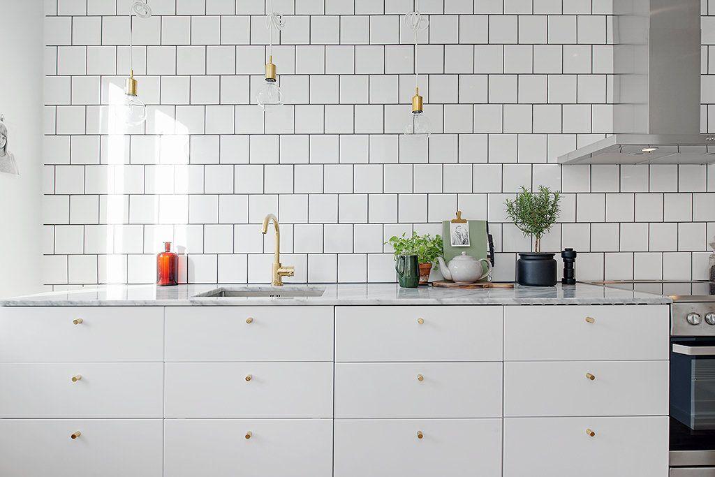 Oanvänt drömkök med blandare av mässing Inredning Pinterest