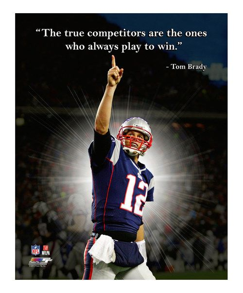 New England Quotes: Take A Look At The Tom Brady Pro Quote Gallery-Wrapped