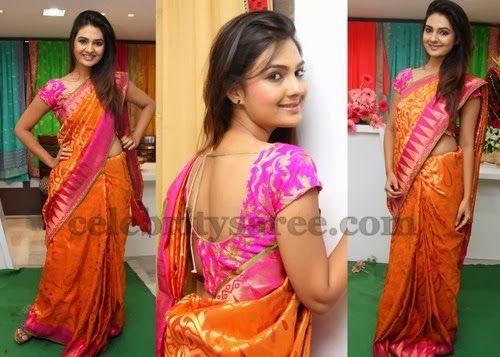 Neha Deshpande Uppada Silk Saree