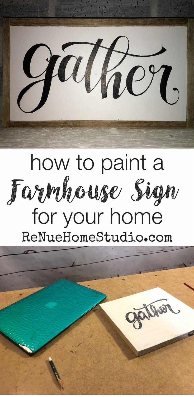 How to paint a diy farmhouse sign for your vintage or farmhouse