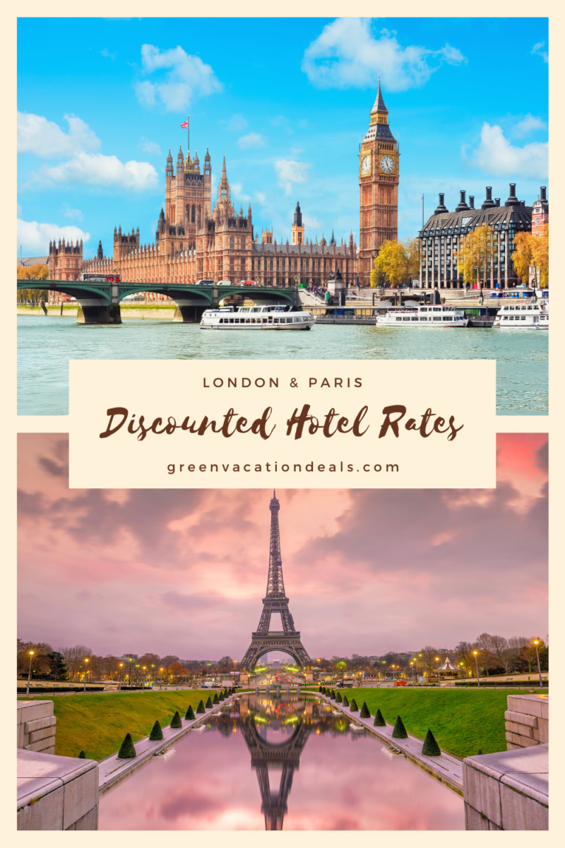 Discounted Rates On Hotels In London & Paris #Paris #London #HotelDeals #travelhacks #England #France #hotelsale #travelsale #traveldeals #wheretostay #citybreak #budgettravel #budgettraveler #budgetholiday #traveltips