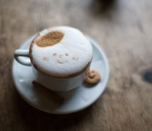 Inspiring picture cappuccino, cinnamon, coffee, cookie, cute. Resolution: 500x333 px. Find the picture to your taste!