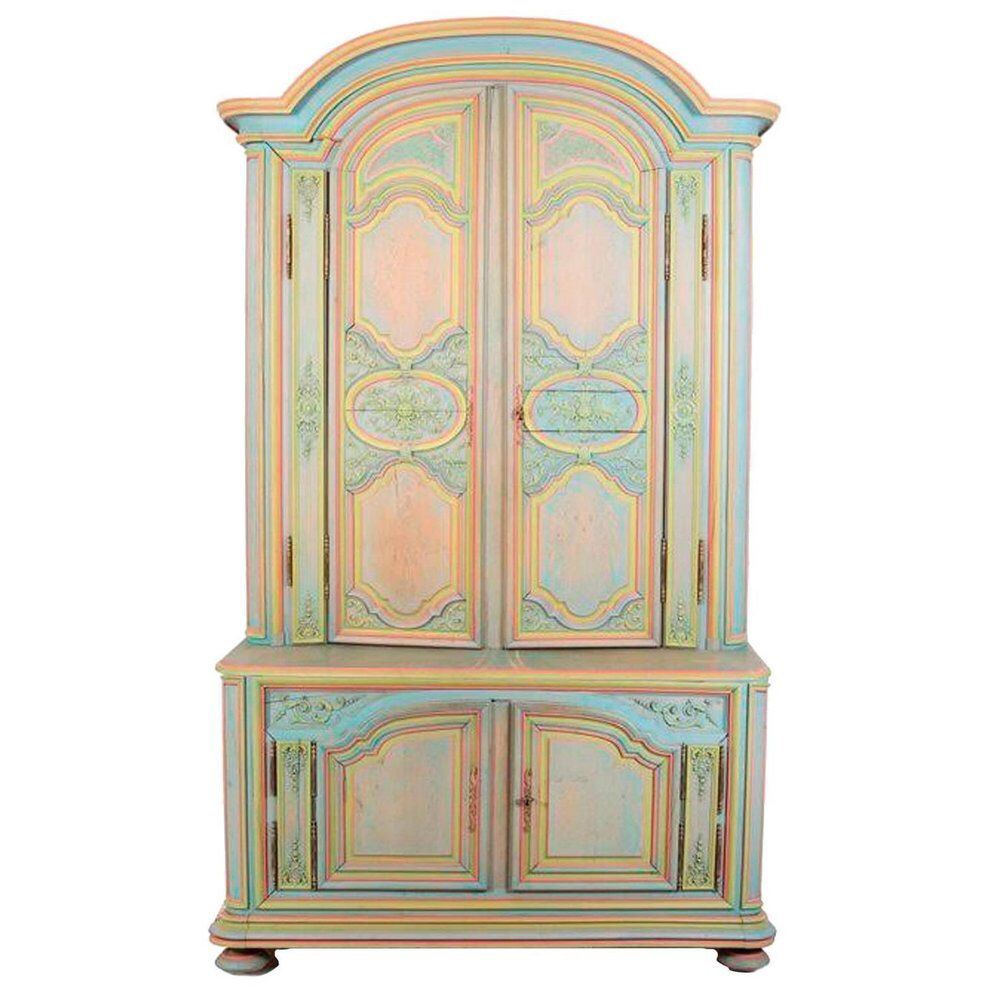 French Provincial Multicolor Armoire on Chairish.com ...