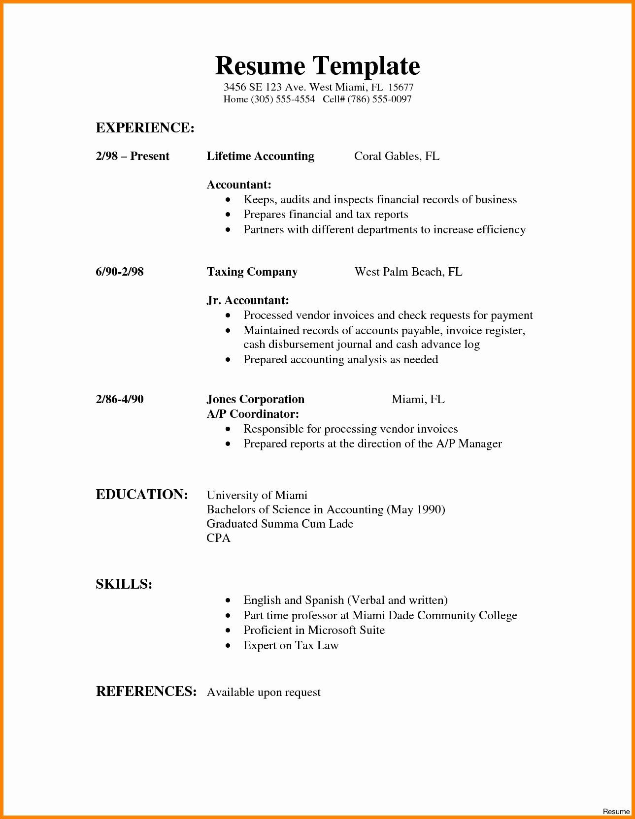27 Basic Resume Examples for Part Time Jobs in 2020