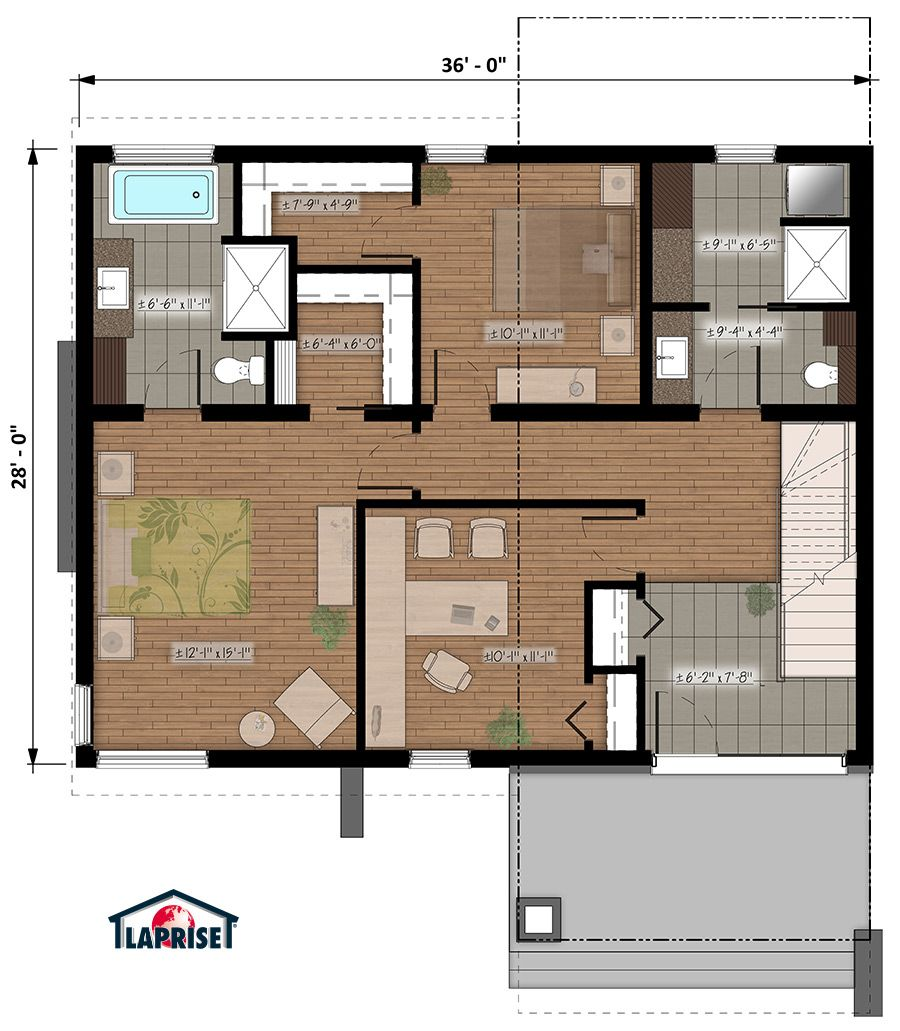 Designer, Zen & Contemporary | LAP0532 | Maison Laprise - Prefabricated Homes | Small villa ...