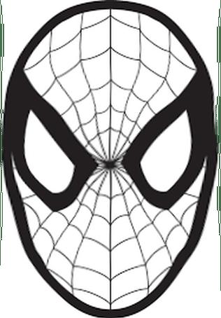 Maschera Di Spiderman Da Colorare.Carnevale Maschera Di Spiderman Da Colorare Spider Man Stencil