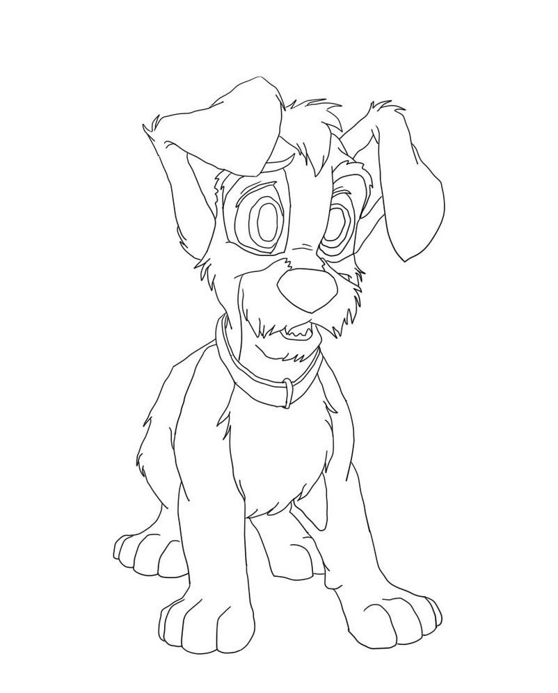 Scamp Anxious | Lady and the Tramp Coloring Pages | Pinterest ...